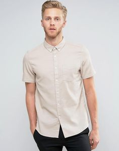 Get this Burton Menswear's basic shirt now! Click for more details. Worldwide shipping. Burton Menswear Slim Short Sleeve Shirt In Waffle - Stone: Shirt by Burton Menswear London, Waffle fabric, Button-down collar, Chest pocket, Slim fit - cut close to the body, Machine wash, 100% Cotton, Our model wears a size Medium and is 189cm/6'2.5 tall. British brand Burton Menswear London combines a long heritage of tailoring with a modern take on relaxed formal and casualwear to bring an added hint…