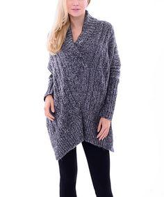 Look at this #zulilyfind! Dark Gray Shawl Collar Pullover #zulilyfinds