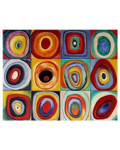 """""""Farbstudie Quadrate"""" Wall Art/ Trivet. Fun colorful kitchen backsplash."""