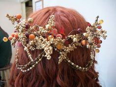 floral fall crown