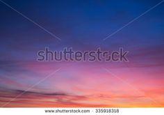 sun set clouds  - stock photo