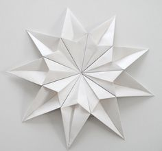 How to do it......    You need  A4 paper, scissors and tape (I used washi).         Paper star by me.