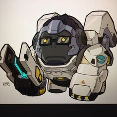 Colored Winston from #Overwatch #blizzard #videogame by kevinraganit