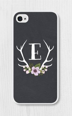 Purple Monogram Floral iPhone Case iPhone 4 / 4s