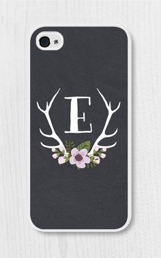 Purple Monogram Floral iPhone Case iPhone 4 / 4s