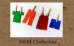 "Great Color, shape matching for young kids. String, clothes pins...and felt ""clothes""...You give a ""basket"" of laundry to sort, with rules. For younger kids Hang all pants first, for Older children hang the pants first, but in this color order..etc."