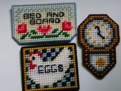 3 Plastic Canvas Magnets    858 by ritascraftsandmore on Etsy