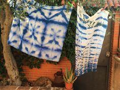 Técnica #shibori en seda. #Taller elgatodeseda.com #verano #diseño #DYE