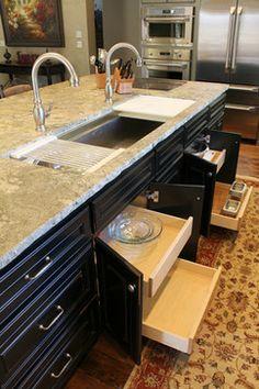 Deep Concrete Kitchen Sink
