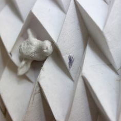 4er Serie of Origami with cow detail