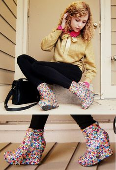 omg these are really cute!  #diyshoes