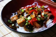 Tofu Stir-fry in Sweet Brown Sauce - Supper With Michelle