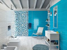 Modern Interior, Interior Design, Wall Colors, Decoration, Wall Tiles, Bathtub, House Design, Curtains, Home Decor