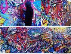 Graffiti en Universidad Nacional de Cordoba - Facultad de Arquitectura y Diseño - Referencia Justicia por Mariano Ferreyra - Mural Art Abstract