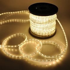 """150ft RGB/Warm White/Cool White/Red/Blue/Green/Yellow Amber 2 Wire LED Rope Light Indoor Outdoor Home Holiday Christmas Party Disco Restaurant Café Decoration 110V (Warm White)     150ft RGB/Warm White/Cool White/Red/Blue/Green/Yellow Amber 2 Wire LED Rope Light Indoor Outdoor Home Holiday Christmas Party Disco Restaurant Café Decoration 110V (Warm White) This 150ft 2-Wire 1/2"""" LED Rope Light is suitale for both residential use and commercial lighting projects. It could be used for cre.."""
