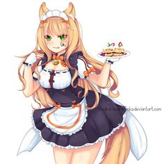 Another Nekopara fanart, Mapple Only few days different and. the result was better than the Cinnamon one (;´Д`A Nekopara - Mapple Cute Neko Girl, Anime Girl Neko, Kawaii Girl, Anime Art Girl, Ecchi Neko, Anime Maid, Anime School Girl, Game Character Design, Beautiful Anime Girl