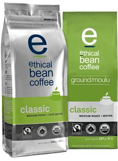 Ethical Bean Coffee : Coffee, vacuum packed, coffee, packaged,...