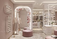 Wardrobe Design Bedroom, Room Design Bedroom, Home Room Design, Dream Home Design, Home Interior Design, House Design, Modern Luxury Bedroom, Luxurious Bedrooms, Mansion Interior