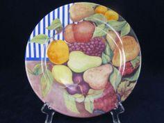Gien China La Ronde Des Fruits Bread Butter Plate Mint France Fruit Pattern | eBay