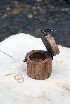 Wedding Ring Cushion – Wooden ring box,wedding ring box,wood ring holder – a unique product by Bogarne on DaWanda