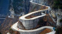 Spectacular & Dangerous Road on Earth- Tianmen Mountain Road, Zhangjiajie, China