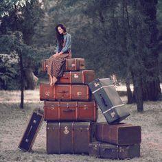 surrealist suitcase shot