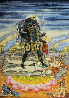 Kali Shiva, Kali Mata, Goddess Kali Images, Lord Shiva Family, Divine Mother, Thing 1, Gods And Goddesses, All Print, Fine Art America