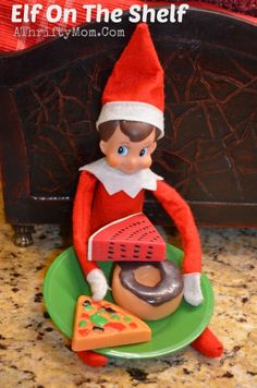 SIMPLE but CUTE idea....elf of the shelf day fourteen , Elf on the Shelf Ideas, What to do with an elf on a Shelf, Easy Elf on the Shelf Ideas