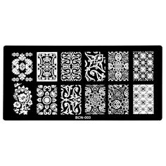 [Visit to Buy] New Arrival Nail Art Image Stamp Stamping Plates Manicure Template Nail Art Tools Nail Printing Classic Race Pattern BCN-003 #Advertisement