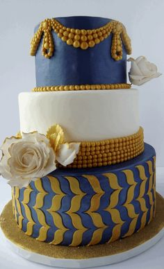 blue-and-gold-wedding-cake.png (700×1152)