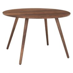 VINCE 4 seat round walnut dining table. Habitat.