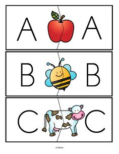 ***FREE*** Alphabet upper case with upper case letters puzzle match-ups, full alphabet.