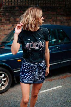 A sua t-shirt de banda nunca foi tão cool » STEAL THE LOOK
