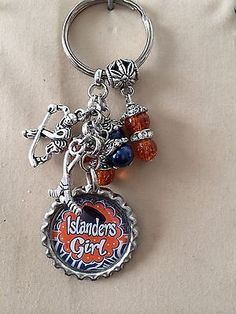 New York Islanders Girl Inspired Bottle Keychain Handmade Islanderws Key Chain New York Islanders, Buy And Sell, Personalized Items, Key Chains, Scores, Ebay, Fashion, Moda, Key Fobs