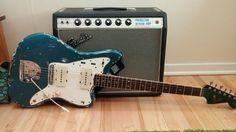 Fender Electric Guitar, Fender Guitars, Studio Equipment, Studio Gear, Guitar Amp, Cool Guitar, Princeton Reverb, Lake Placid Blue, Guitar Room