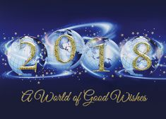 Good Wishes For 2018 - Global World Holiday Cards