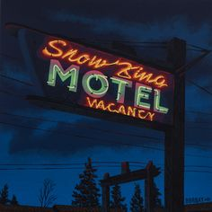 Snow-King-Motel-Neon-Sign-Painting-by-Borbay-1.jpg (1152×1152)