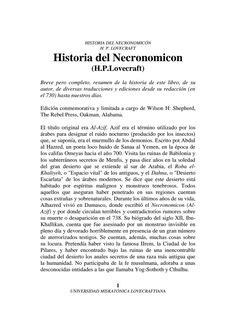 Historia del Necronomicon.