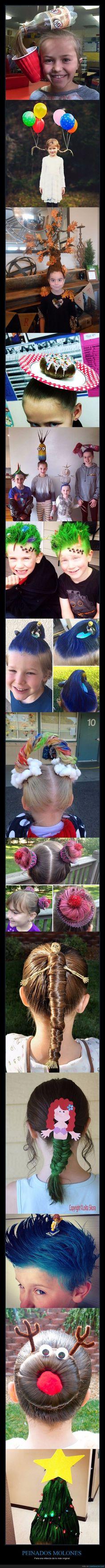 Un montón de peinados molones para los más molones de la casa :D - Para una infancia de lo más original