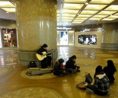 Straßenmusik in Hong Kong