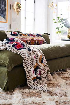Slide View: Tufted Ayla Throw Blanket - June 15 2019 at Teenage Girl Bedrooms, Girls Bedroom, Girl Room, Cozy Bedroom, Home Decor Bedroom, Bedroom Ideas, Serene Bedroom, Bedroom Designs, Bedroom Colors