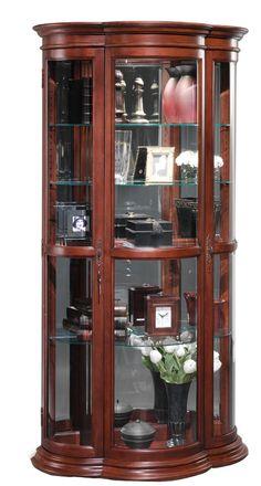 Crescent Curio Cabinet | Jasper Cabinet | Home Gallery Stores