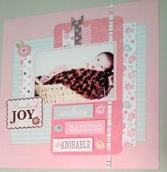 Echo Park Bundle of Joy Girl Baby Girl Scrapbook, Baby Scrapbook Pages, Kids Scrapbook, Scrapbook Designs, Scrapbook Albums, Scrapbooking Layouts, Scrapbook Cards, Travel Scrapbook, Park Birthday