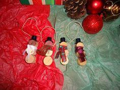 snowman wine cork ornaments