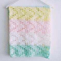 The Hopscotch Crochet Baby Blanket - Free Pattern