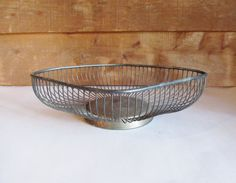 Vintage Metal Diamond Fruit Basket by ThreeBestGirls on Etsy