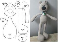 Coser los juguetes con sus propias manos.  Oso de juguete-chernonosik suave.  Patrón.