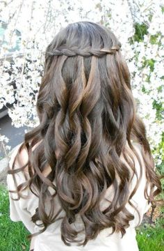 WaterFall Braid hairstyle..