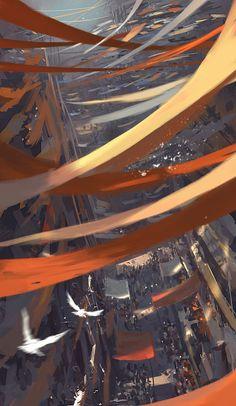 Slum by wlop on DeviantArt