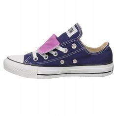 Converse Women's All Star Dbl Tongue Ox Shoe-Blue ribbon